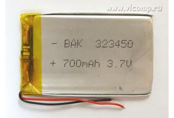 Батарейка для видеорегистратора 3.2*34*50mm (700Mah)