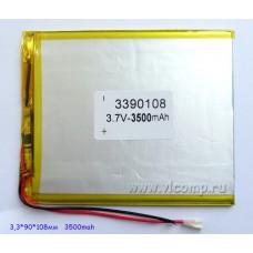 Батарейка для планшета 3.3*90*108mm (3500Mah)