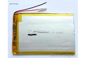 Батарейка для планшета 4*74*110мм (3700mah)