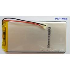 Батарейка для планшета 6*52*103мм (3000Mah)