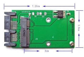 Переходник Msata HDD to 1.8 Sata