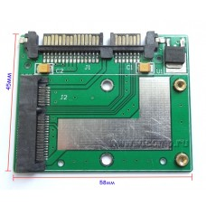 Переходник mSata SSD to Sata (58*45мм)