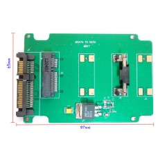 Переходник mSata SSD to Sata (97*65мм)