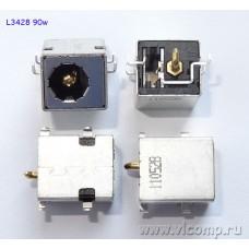 Разъем питания ноутбука L-3428 ( PJ-033) (90W) (медный контакт)